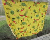 Vintage Tablecloth - Bright Yellow Cotton Print