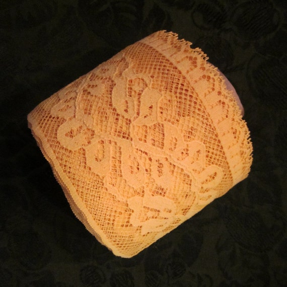 Wide Gold Lace Yardage For Sewing/Crafting - 15 Yards