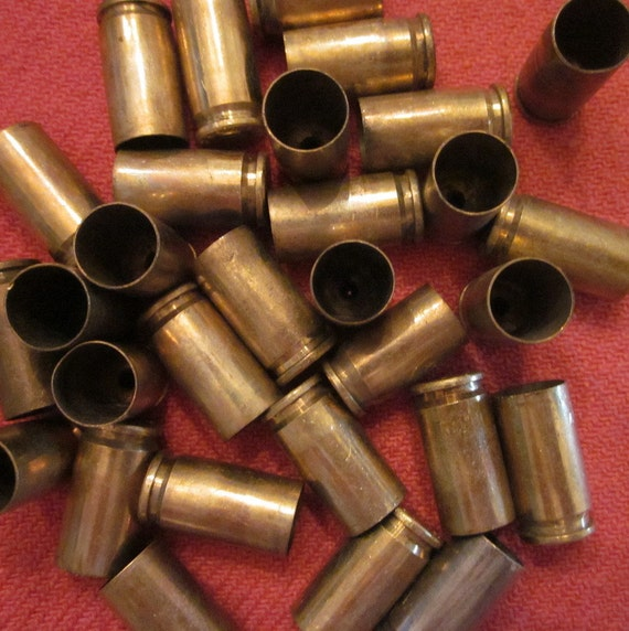 Thirty Empty Brass Bullet Casings - Assorted Small Caliber