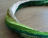 RISCA Necklace Crochet Freeform Green