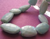 Larimar Nuggets knotted on Silk with Pearl