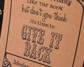 GIVE It Back - personalized kraft bookplates set of 18