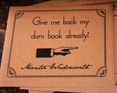 Give me back my darn book - personalized Kraft Bookplates set of 18 - Montserrat