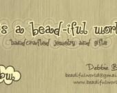 Custom Biz Cards for BeadifulWorld