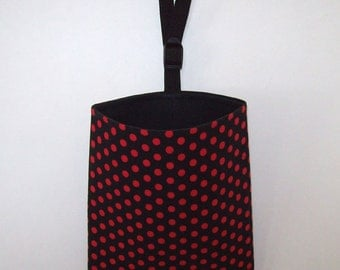 Auto Trash - Car Litter Bag - Red Dots on Black