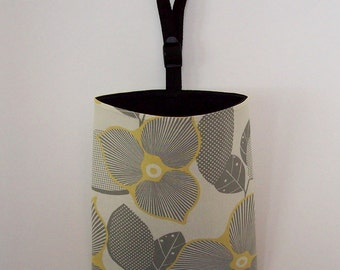 Car Litter Bag // Auto Trash Bag // Auto Litter Bag // Stay Open Design! // Amy Butler Optic Blossom