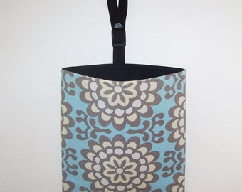 Auto Trash - Car Litter Bag - Amy Butler - Wall Flower - Blue