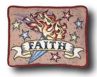 Faith Tattoo Cross Stitch Kit - large