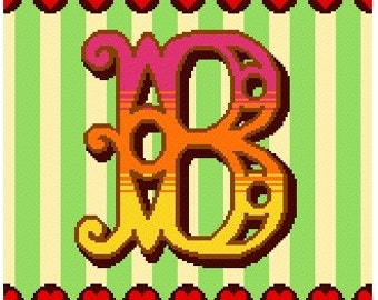 Curious Alphabet Cross Stitch kit - B
