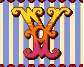 Curious Alphabet Cross Stitch kit - Y