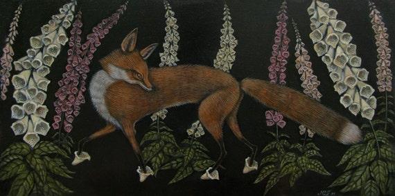 Foxgloves Print - Print