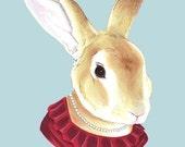 Lady Rabbit print 11x14