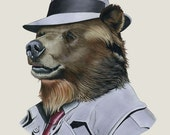 Grizzly Bear art print by Ryan Berkley 8x10