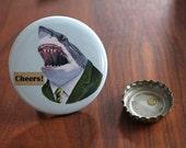Shark Bottle Opener Keychain - Ryan Berkley Illustration