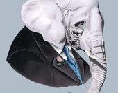 Elephant print 8x10