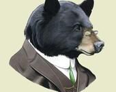 Black Bear art print by Ryan Berkley 11x14