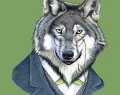 Wolf print 8x10