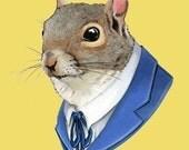 Squirrel print 5x7
