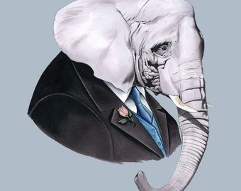 Elephant print 11x14