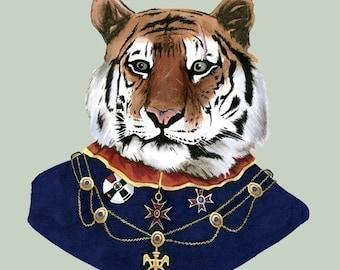Tiger print 11x14