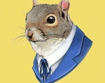 Squirrel print 11x14