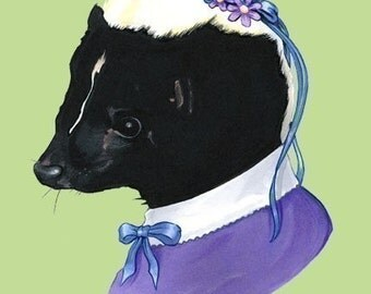 Lady Skunk art print 5x7