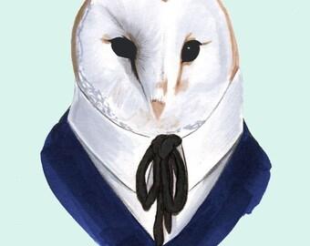 Barn Owl print 8x10