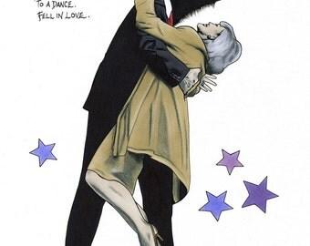 Dancing Couple print 8x10