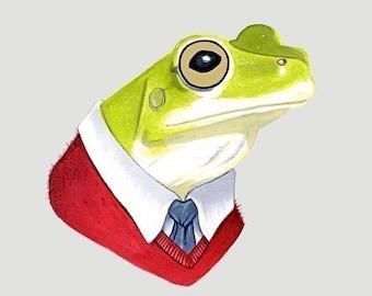 Frog print 11x14
