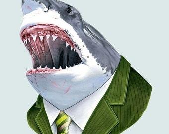 Great White Shark print 11x14