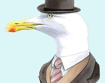 Seagull print 5x7