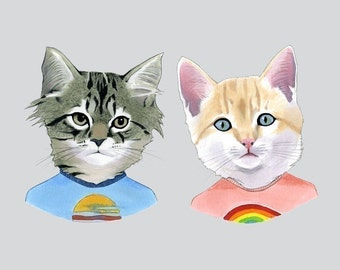 Kittens art print 11x14
