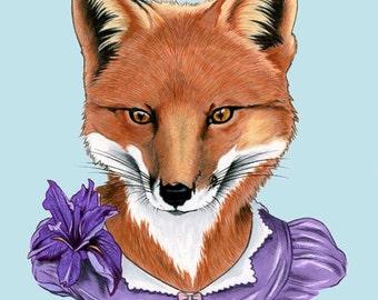 Fox Lady art print 5x7