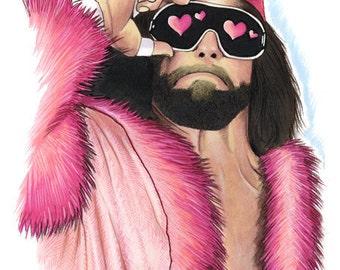 Macho Man In Love art print 8x10