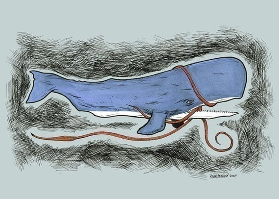 The Whale Wins print