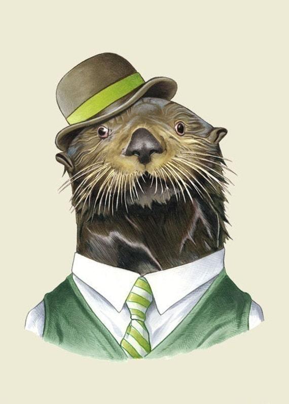Sea Otter print 5x7