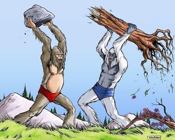 Fighting Sasquatch Brothers