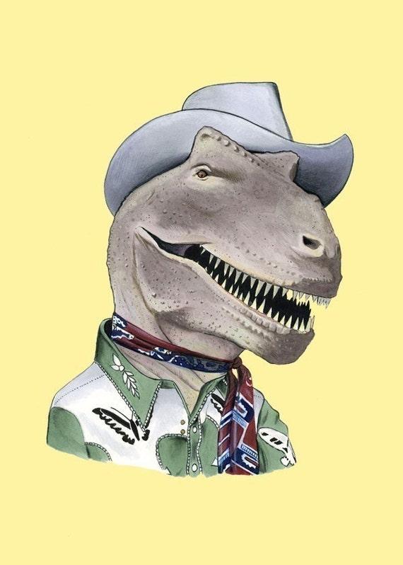 T-Rex Dinosaur Print 8x10 By Berkleyillustration On Etsy