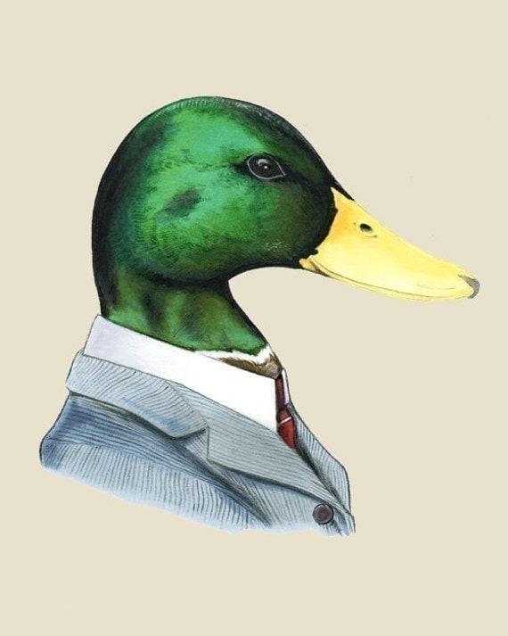 Mallard Duck art print 5x7