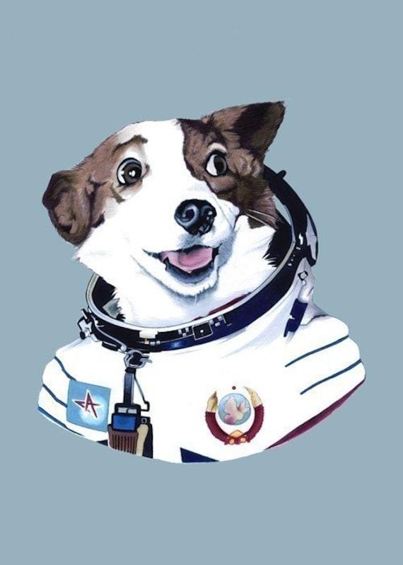Strelka The Space Dog print 5x7
