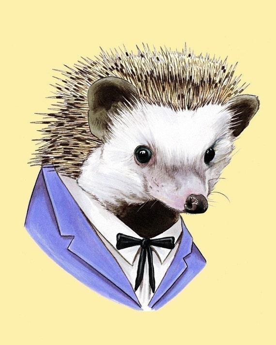 Hedgehog print 8x10