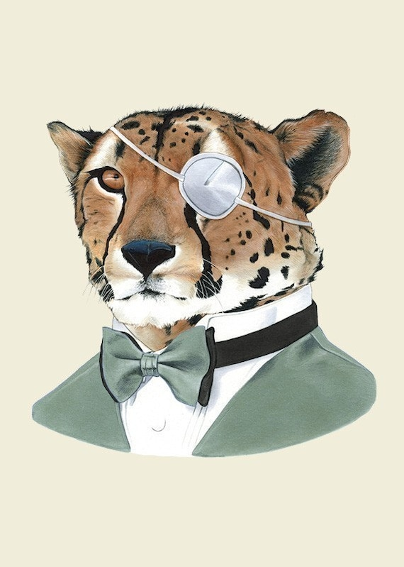 cheetah animal illustration suit print animals anthropomorphic berkley ryan suits illustrations clothes artwork leopard artist cool patch prints cat eye