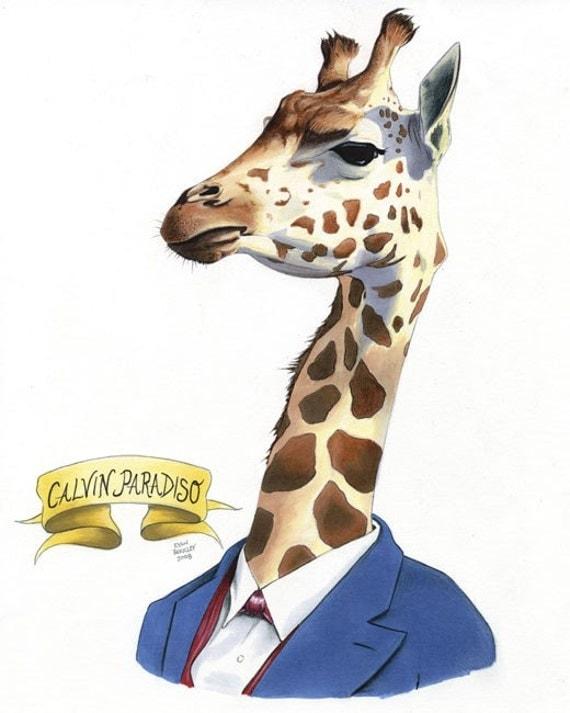 Giraffe ORIGINAL ILLUSTRATION