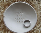 WILL YOU MARRY ME tiny text bowl proposal - engagement box set