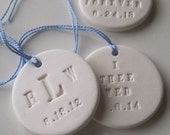 Personalized Bouquet Charm Text Tile by Paloma's Nest, ornament, something blue, bridesmaid gift