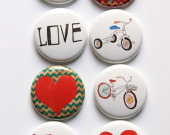 Bikes and hearts flair