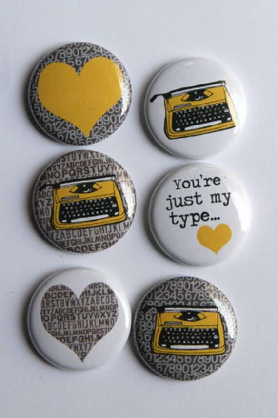 Typewriter Flair yellow