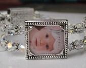 Clear Crystal Photo Bracelet
