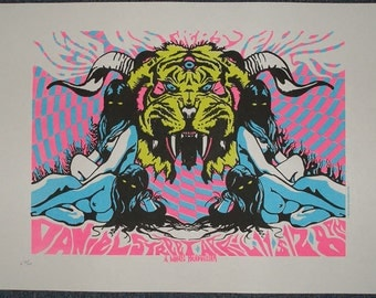 Acid mothers temple screenprinted gig poster