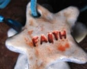 FAITH star pendant